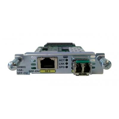 Cisco netwerk switch module: Gigabit LAN, 1x SFP (100/1000Mbps), 1x copper RJ-45 (10/100/1000Mbps), QoS