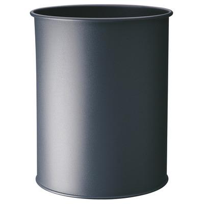 Durable Waste basket metal round 15 Prullenbak - Zilver