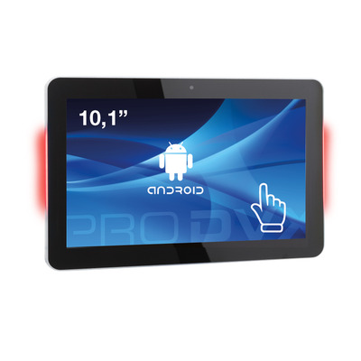 """ProDVX APPC-10DSQPL 10"""" Android Tablet PC PoE LED 10.1"""" Quad Core 1280 x 800 IPS All-in-one pc - Zwart"""