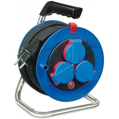 Brennenstuhl stekkerdoos: 15m H05RR-F 3G1,5 - Zwart, Blauw, Rood