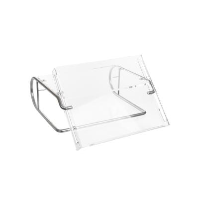 R-go tools ordner: Steel Document Monitor Stand, document holder, silver - Zilver