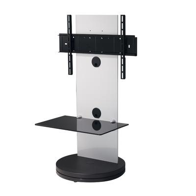 B-Tech 1m TV Stand with 1 Shelf TV standaard - Zwart, Wit