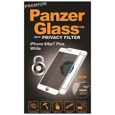 PanzerGlass Apple iPhone 6/6s/7/8 Plus Curved Edges Privacy Screen protector - Transparant