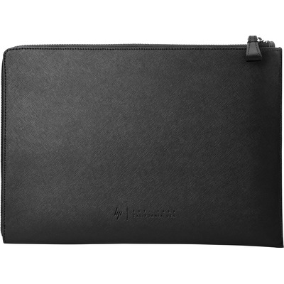 HP laptoptas: Elite 12.5 Black Leather Sleeve - Zwart