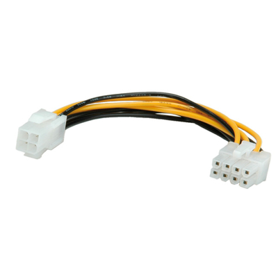 ROLINE 0.15m ATX12V-P4/PCIe 8p - Zwart, Wit, Geel