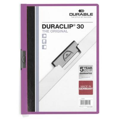 Durable stofklepmap: DURACLIP 30 A4 - Paars, Wit