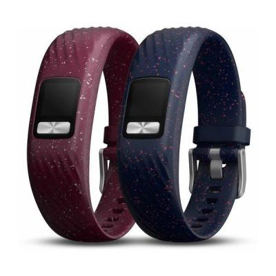Garmin Merlot and Navy Speckle, silicone Horloge-band - Bordeaux,Navy