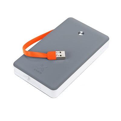 Xtorm powerbank: Li-ion, 15000mAh, 3x USB, 2A, 5V - Grijs, Wit