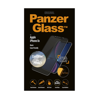PanzerGlass Apple iPhone XR Edge-to-Edge Privacy Camslider Screen protector - Transparant