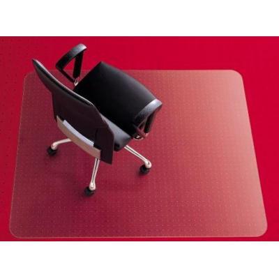 Rexel anti-statische vloermat: Stoelmat 1,21x1,52m E-vorm Transparant