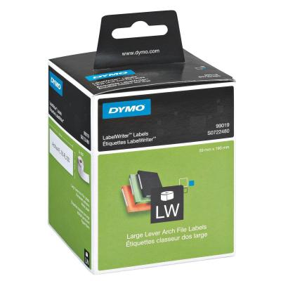 Dymo etiket: Lever arch labels - Zwart, Wit