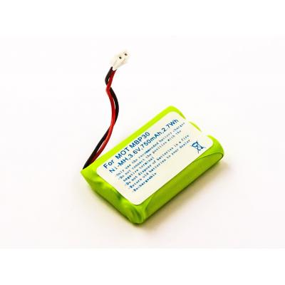 Microbattery : 2.7Wh Baby Monitor Battery, NiMH 3.6V 750mAh - Zwart, Rood, Wit, Geel