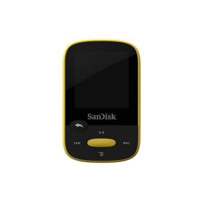 Sandisk MP3 speler: Clip Sport 8GB - Zwart, Geel