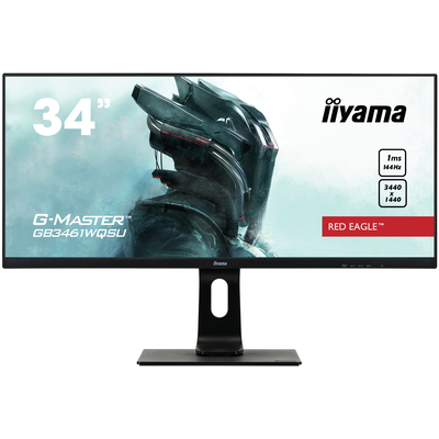 "Iiyama G-MASTER 34"", ADS-IPS, 21:9, 3440x1440, 1 ms, HDMI, DP, USB, HDCP, 817x415-545x230 mm Monitor - Zwart"