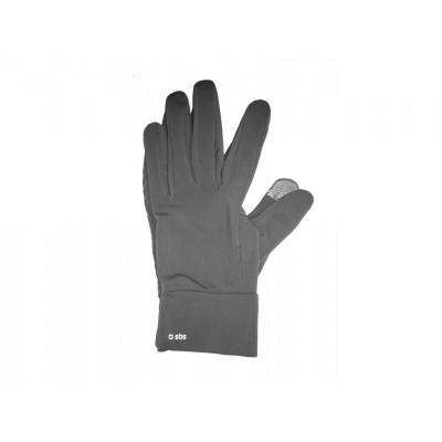 Sbs : Gloves for capacitive screen, XL, 95% polyester - 5% spandex - Zwart