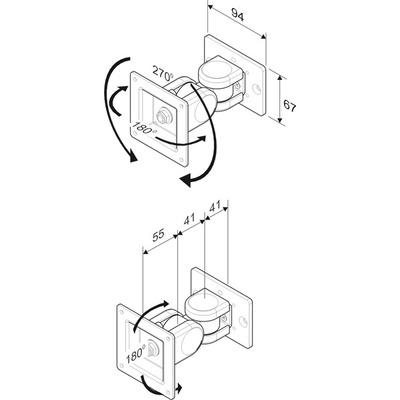 ROLINE LCD bevestiging, tot 8kg C Monitorarm