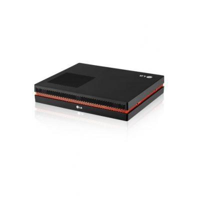 Lg mediaspeler: Intel Core I5-520M (2.4GHz), QM57, 2GB RAM, 32GB SSD, Windows 7 Embedded - Zwart, Oranje