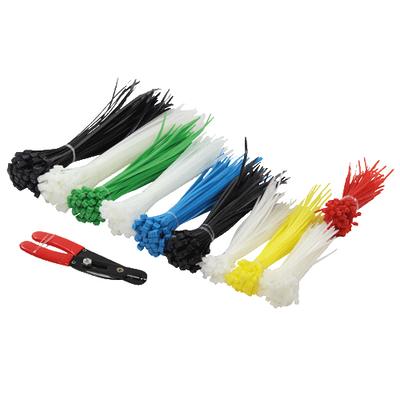 LogiLink Nylon, Red/Green/Blue/Yellow/White Kabelbinder - Zwart, Blauw, Groen, Rood, Wit
