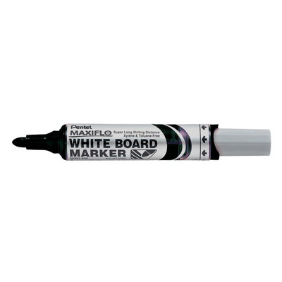 Pentel Maxiflo Markeerstift - Zwart, Wit