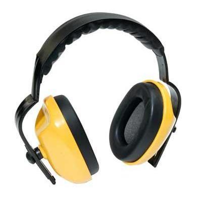 Toolpack gehoorbeschermer: ABS Cups, PU Foam Padded Ear Cushions - Zwart, Geel
