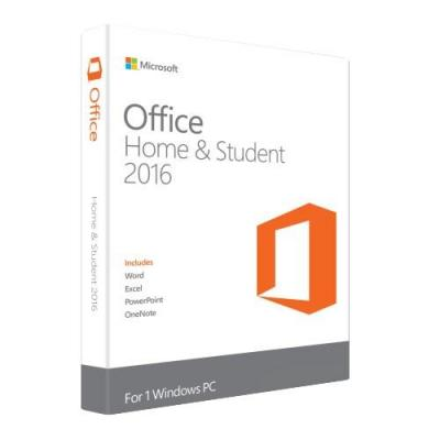 Microsoft software suite: Office Home & Student 2016