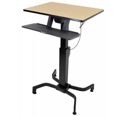 Ergotron bureau: WorkFit-PD - Zwart, Hout