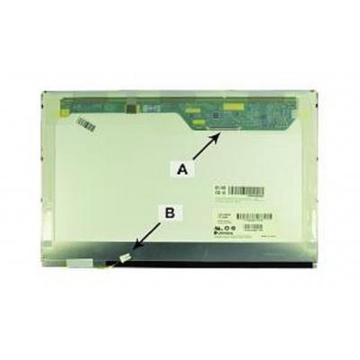 "2-power notebook reserve-onderdeel: 35.814 cm (14.1 "") WXGA (1280x800) LCD Glossy - Wit"