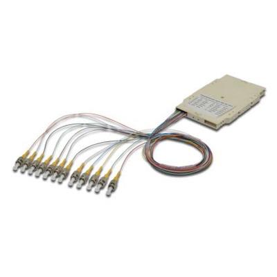 ASSMANN Electronic 12 ST, 9/125µ Fiber optic adapter - Beige