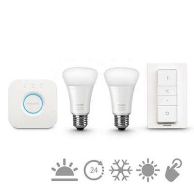 Philips personal wireless lighting: hue White ambiance Starterkit e27 8718696548691 - Wit