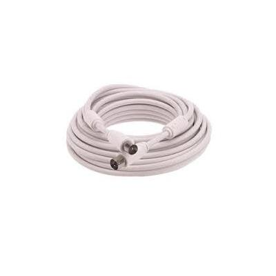 Triax coax kabel: RF-Cable 10.0 m - IEC male/female, blister - Wit