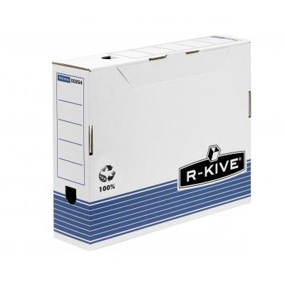 Fellowes archiefdoos: R-Kive Prima 80mm Transfer Archiefdoos - Blauw, Wit