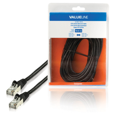 Valueline FTP CAT5e RJ45 mannelijk - RJ45 mannelijk 10.0 m zwart Netwerkkabel