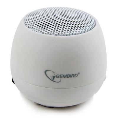Gembird 2 W, 100 Hz - 20 kHz, 40 mm, 4 Ohm, 5 V, 400mAh Lithium Draagbare luidspreker - Wit