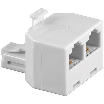 Microconnect netwerk splitter: RJ11/2xRJ11 M/F - Beige