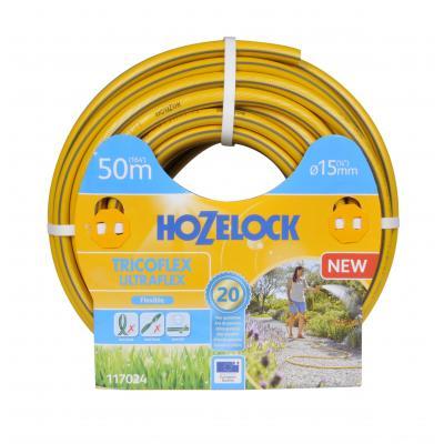 Hozelock tuinslang: Tricoflex Ultraflex slang  Ø 15 mm50 meter - Grijs, Geel