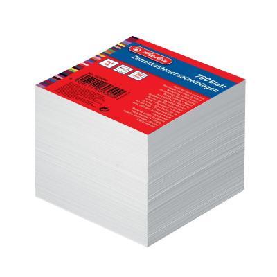 Herlitz Note cube box paper 700 sheets 9 x 9 cm white Zelfklevend notitiepapier - Wit