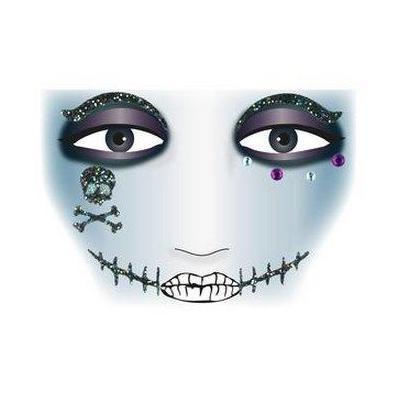 Herma sticker: Face Art Sticker Pirat - Zwart, Grijs