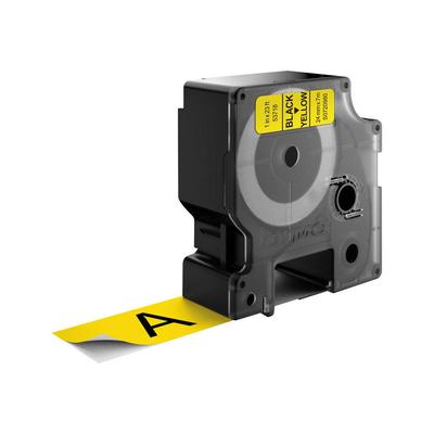 DYMO D1 -Standard Labels - Black on Yellow - 24mm x 7m Labelprinter tape