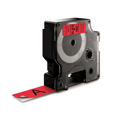 DYMO D1 Standard - Black on Red - 19mm Labelprinter tape