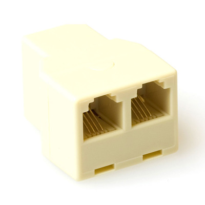 ACT RJ Modular T-adapters 3x female Kabel adapter - Beige