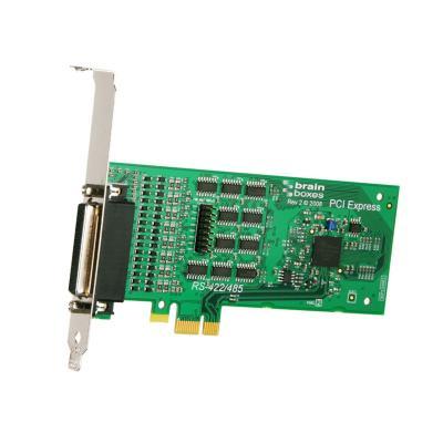 Brainboxes 4 x RS422/485 DB9, 921.6kBaud, PCI Express Interfaceadapter - Groen