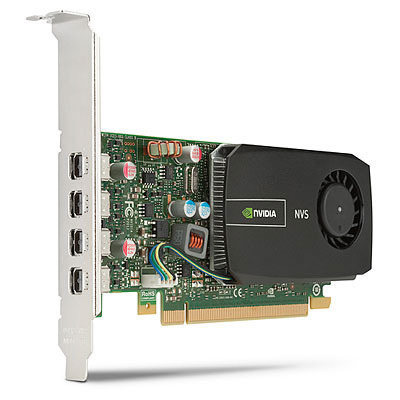 Lenovo videokaart: NVIDIA NVS 510 2GB DDR3, PCI Express 2.0 x16, 4 x mini DisplayPort