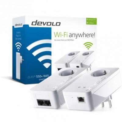 Devolo dLAN 550+ WiFi Powerline adapter - Wit