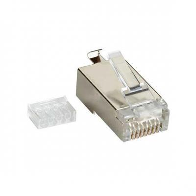 Black Box CAT6 Shielded Modular Plug - 10-Pack Kabel connector - Transparant