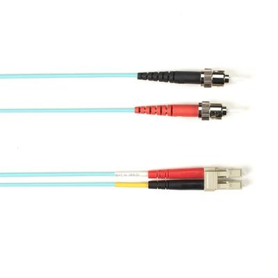 Black Box FO Patch Cable Color Multi-m OM3 - Aqua ST-LC 25m Fiber optic kabel
