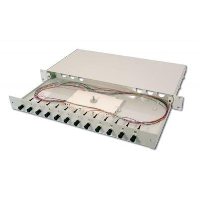 Digitus Fiber Optic Splice Box, Equipped, ST, OM3 Fiber optic adapter - Grijs