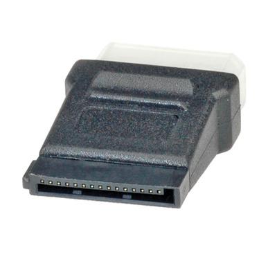 ROLINE stroomadapter 4 pol. HDD / SATA Kabel adapter - Zwart