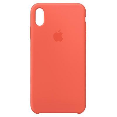 Apple Siliconenhoesje voor iPhone XS Max - Nectarine mobile phone case - Oranje