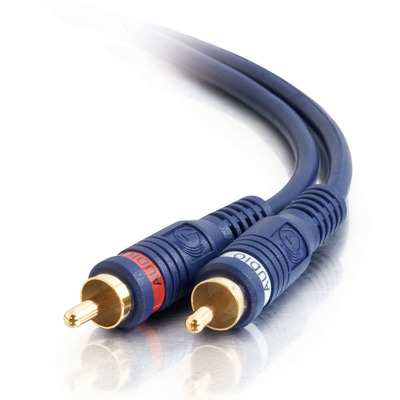 C2g : 5m Velocity RCA Audio Cable - Zwart