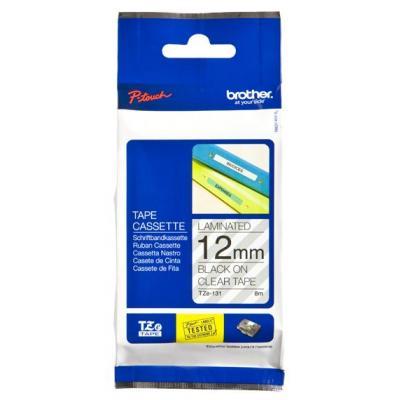 Brother labelprinter tape: Labeltape 12mm - Grijs